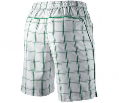 Nike NET 10 Plaid Wowen Short Blanc